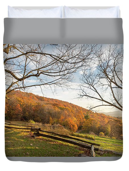Fall Colors At The Moses Cone Estate Duvet Cover