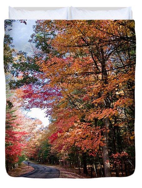 Fall Colors Backroad Duvet Cover