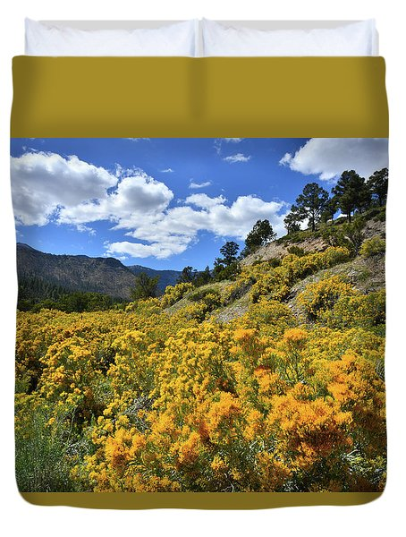 Fall Colors Come To Mt. Charleston Duvet Cover
