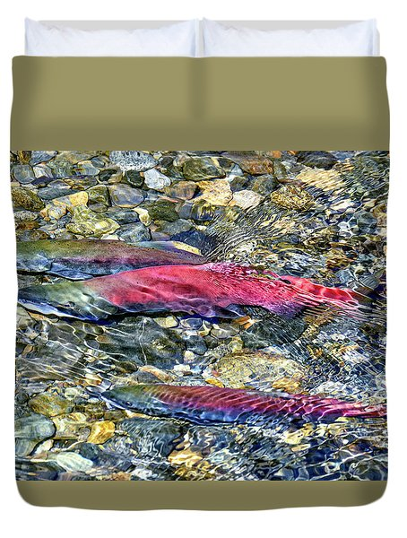 Duvet Cover featuring the photograph Fall Colors by David Lawson