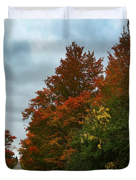 Fall Colors Dramatic Sky Duvet Cover
