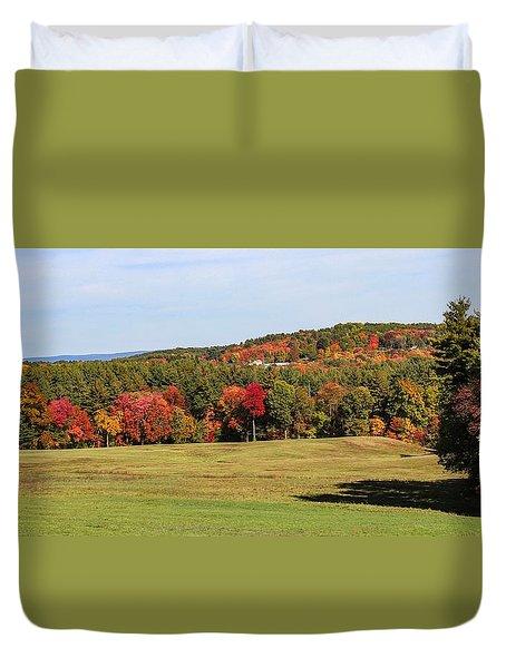 Fall Colors In Easthampton Duvet Cover