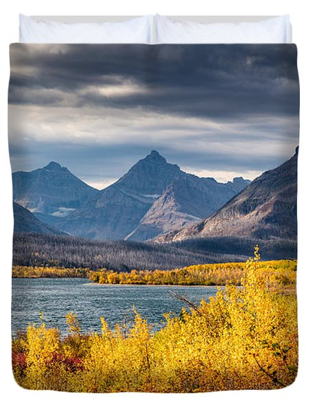Fall Colors In Glacier National Park Duvet Cover
