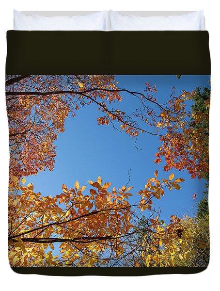Fall Colors In Hoyt Arboretum Duvet Cover