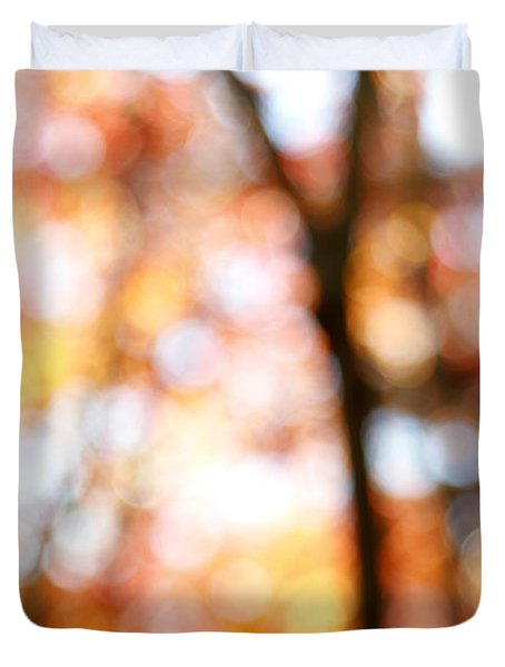 Fall Colors Duvet Cover by Les Cunliffe