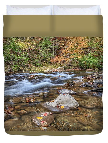 Fall Colors Little River Duvet Cover