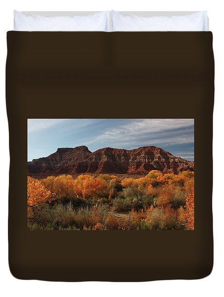 Fall Colors Near Zion Duvet Cover