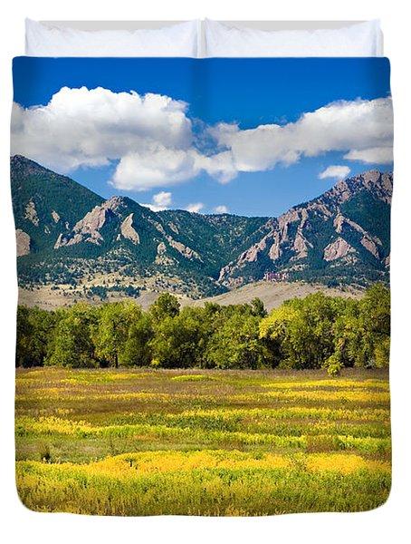 Fall Colors Of Boulder Colorado Duvet Cover