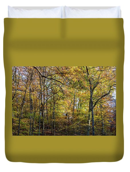 Fall Colors Of Rock Creek Park Duvet Cover