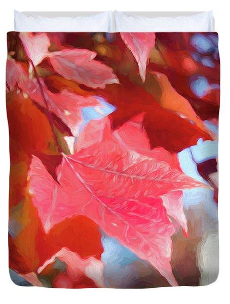 Fall Colors Oil Duvet Cover