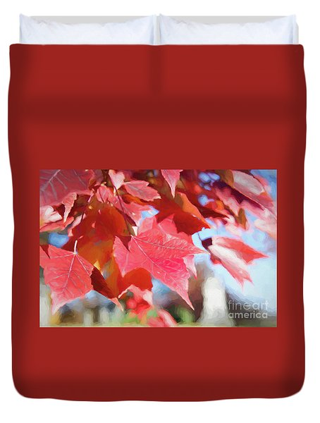 Fall Colors Oil Duvet Cover