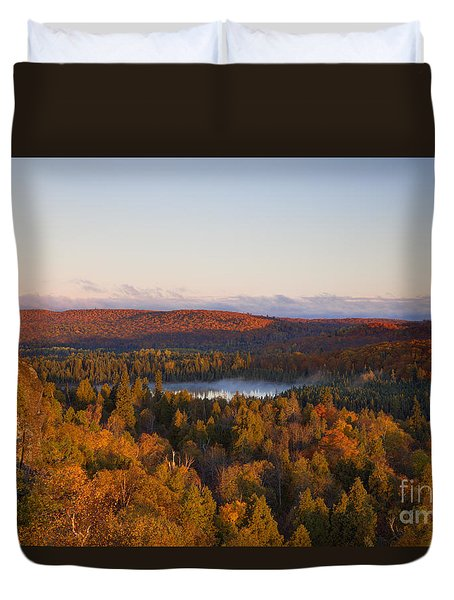 Fall Colors Orberg Mountain North Shore Minnesota Duvet Cover