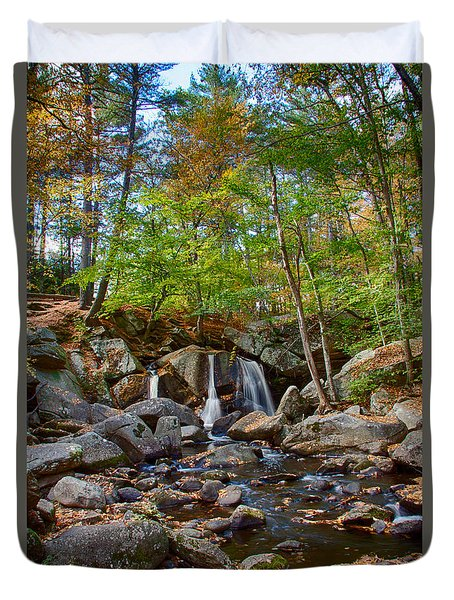 Fall Colors Over Trap Falls In Ashby Massachusetts Duvet Cover by Jeff Folger