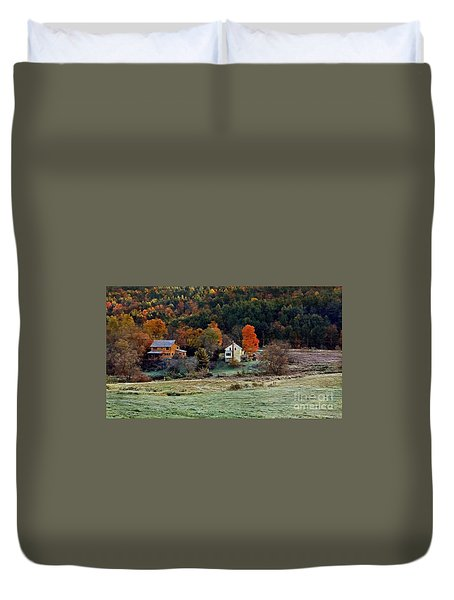 Duvet Cover featuring the photograph Fall Country Side - Vt2015 by Joe Finney