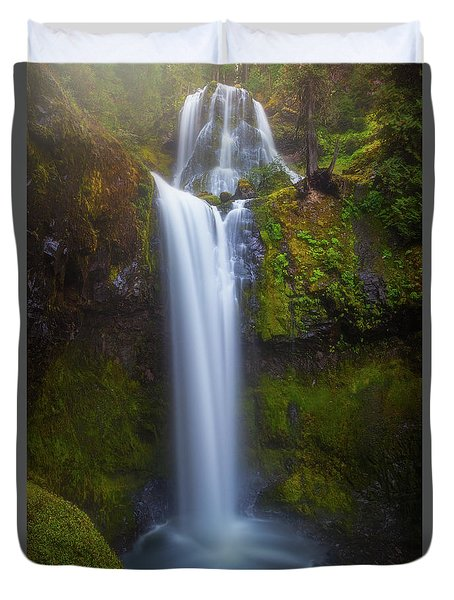 Duvet Cover featuring the photograph Fall Creek Falls by Darren White