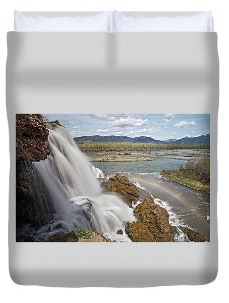 Fall Creek Falls Duvet Cover
