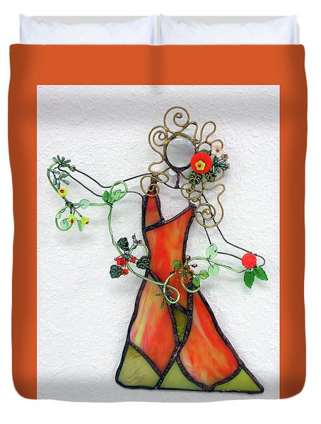 Fall Dancer Duvet Cover by Maxine Grossman