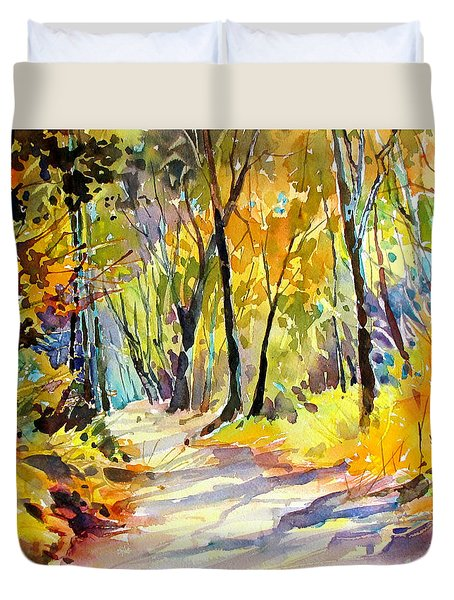 Fall Dazzle, Tennessee Duvet Cover by Rae Andrews