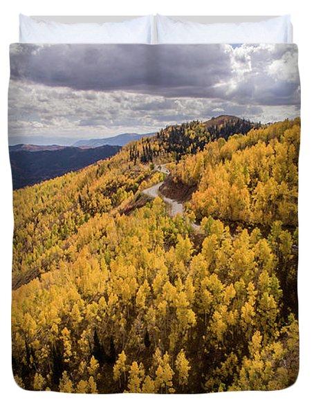 Fall Drive Duvet Cover