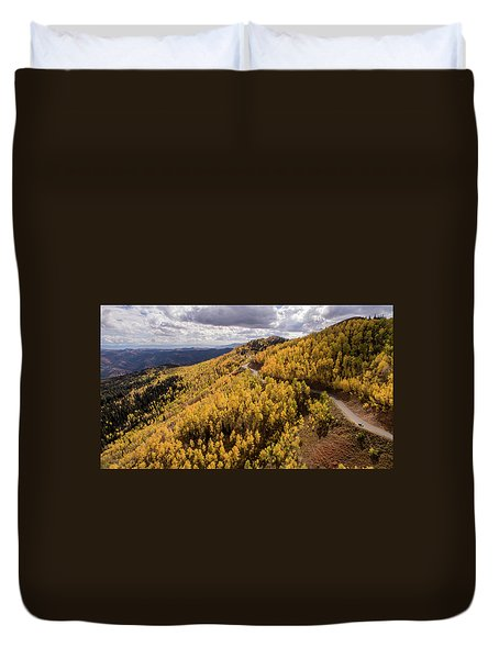 Fall Drive Duvet Cover