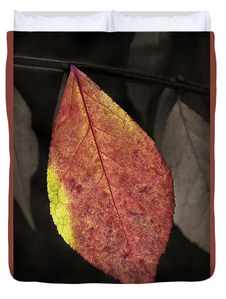Fall Elder Leaf Duvet Cover