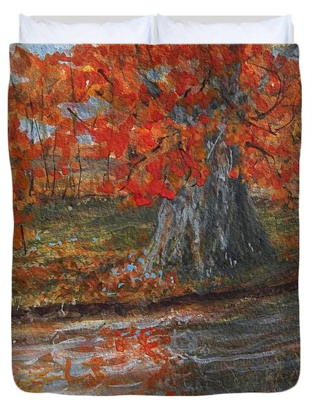 Fall Exit Duvet Cover