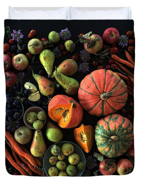 Fall Farmers' Market Duvet Cover