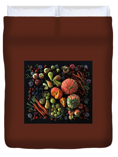 Fall Farmers' Market Duvet Cover