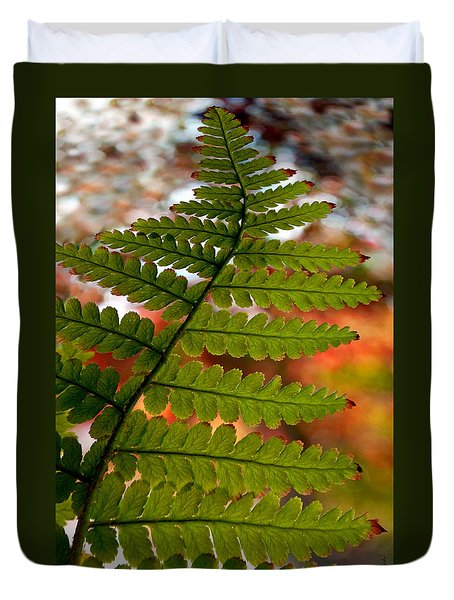 Fall Fern Duvet Cover by Gwyn Newcombe