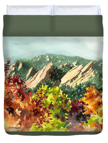 Fall Flatirons Duvet Cover