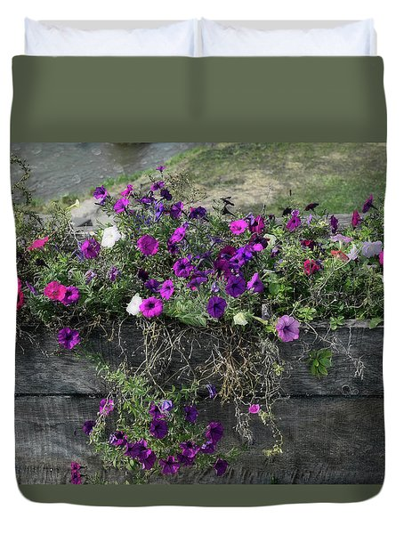 Fall Flower Box Duvet Cover by Joanne Coyle