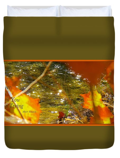 Fall Flyer Duvet Cover by David Norman