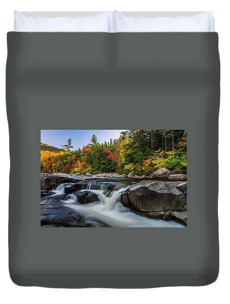 Duvet Cover featuring the photograph Fall Foliage Along Swift River In White Mountains New Hampshire  by Ranjay Mitra