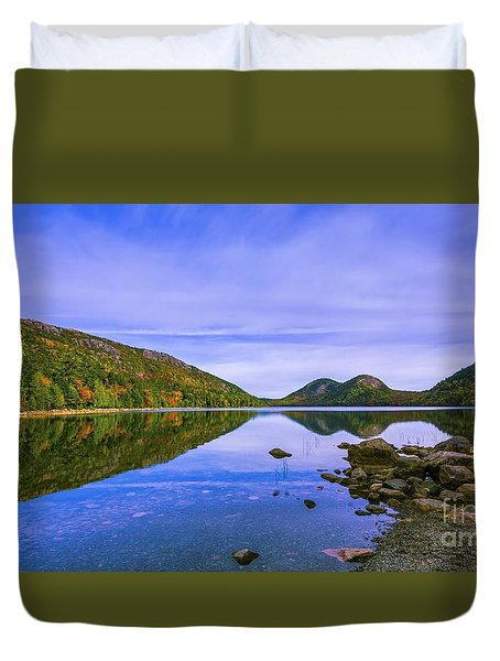 Fall Foliage At Jordan Pond. Duvet Cover