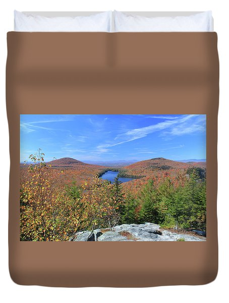 Fall Foliage At Owl's Head Groton State Forest Duvet Cover by John Burk