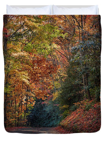 Fall Foliage Duvet Cover