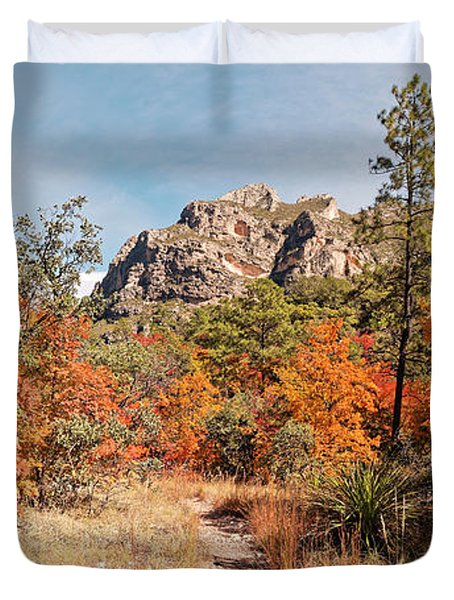 Fall Foliage Explosion At Mckittrick Canyon - Guadalupe Mountains National Park West Texas Duvet Cover