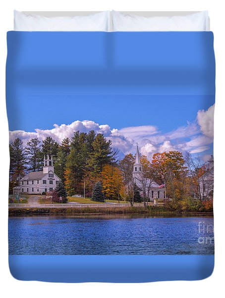 Fall Foliage In Marlow, New Hampshire. Duvet Cover