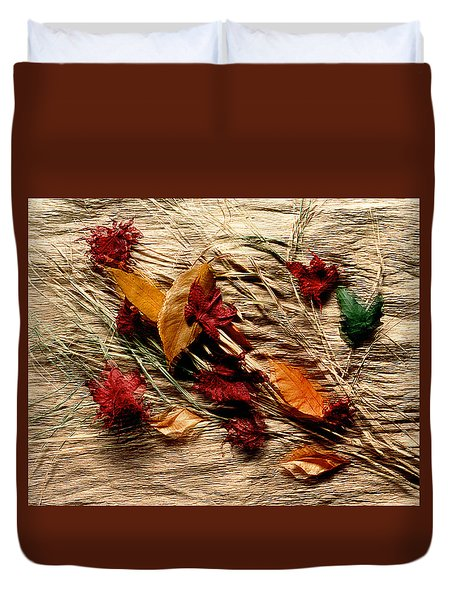 Fall Foliage Still Life Duvet Cover
