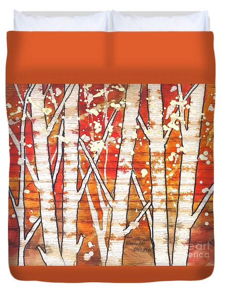 Fall Foliage Duvet Cover by Yolanda Koh