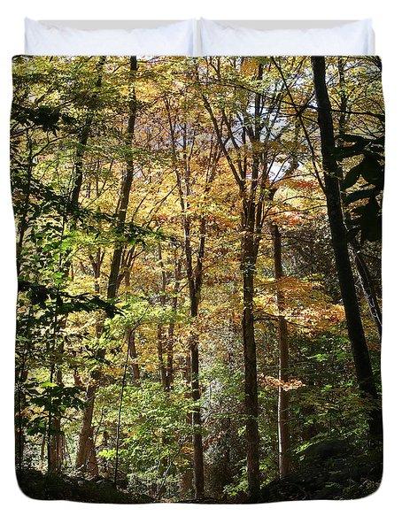 Fall Forest 2 Duvet Cover