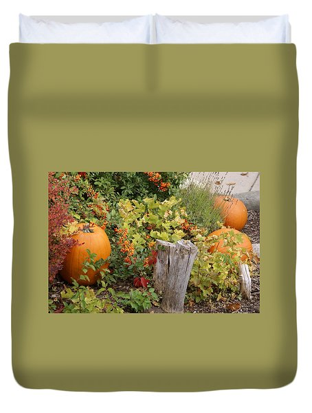 Fall Garden Duvet Cover by Cynthia Powell