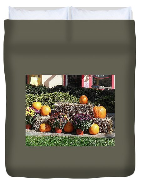 Duvet Cover featuring the photograph Fall Gifts Harvest Time by Irina Sztukowski