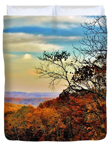 Fall Horizon Duvet Cover