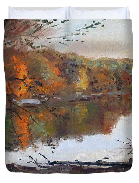 Fall In 7 Lakes Duvet Cover