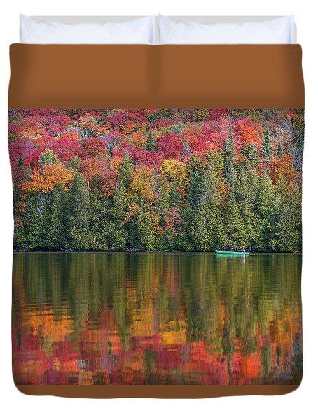 Fall In A Canoe Duvet Cover