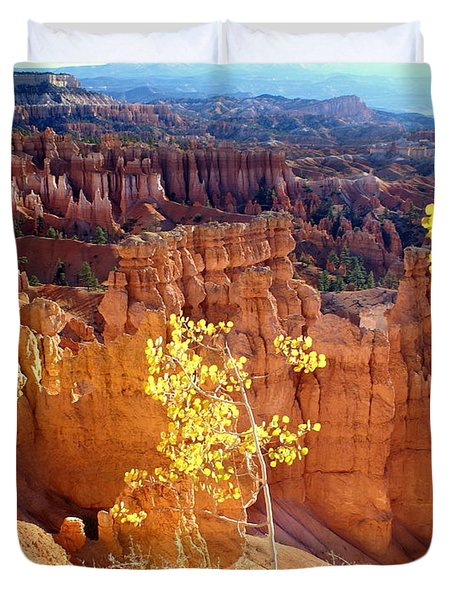 Fall In Bryce Canyon Duvet Cover