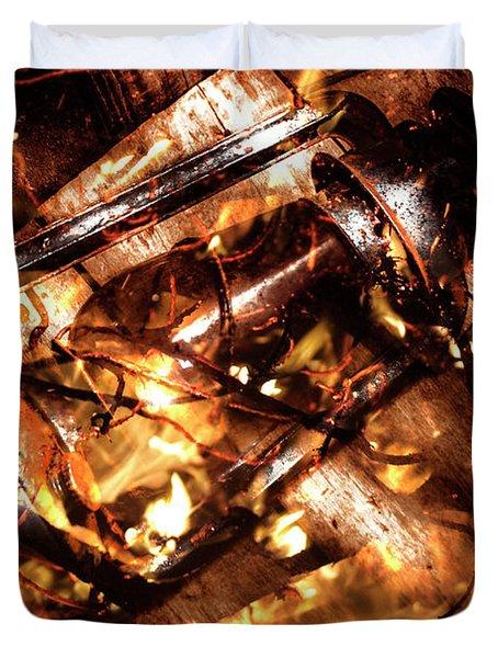 Fall In Fire Duvet Cover