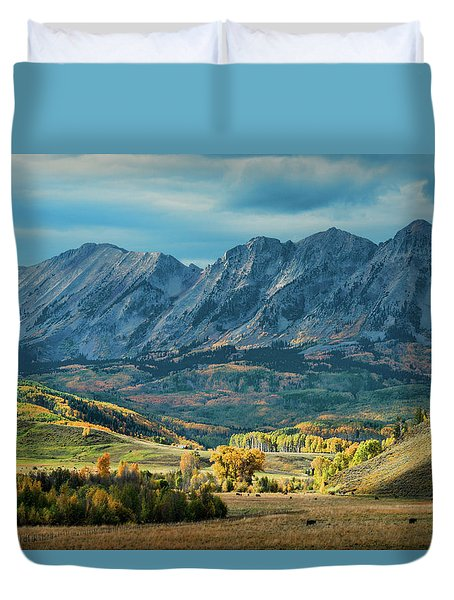 Fall In Gunnison County Duvet Cover