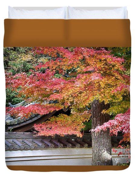Fall In Japan Duvet Cover